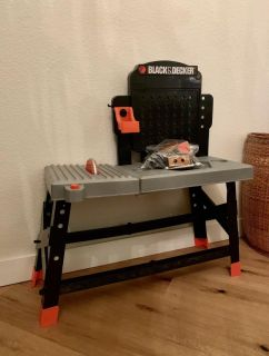Kids Workbench with table saw & Tool box