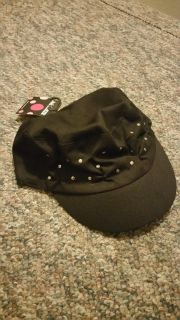 NWT Joe Boxer Wms Blk Hat w/Studs, Never Worn, SEE ADDITIONAL PIC