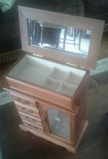 Solid Wood Jewelry Box...Nice Quality!