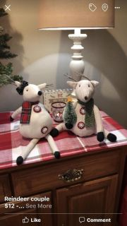 Reindeer couple $15 for set