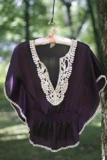 $10 Embroidered Collar Top