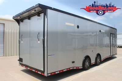 30' Silver Blackout X-Height Spread Axle LED Trailer Wacobil