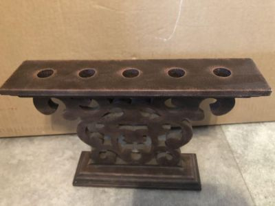 Wooden decor/Candle holder