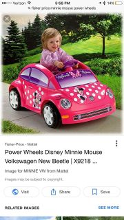 Minnie Mouse power wheels fisher price ride on