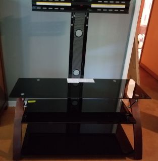 44 inch glass TV stand