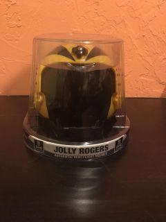 New in box. Jolly Rodgers Authentic Mini Flight Helmet. Slide on picture to see add pictures of the side and back.