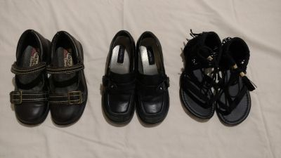 3 Pairs Girls Shoes size 13