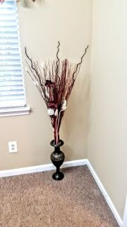Decorative Vase Tall Red New