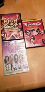 3 dvds - Incredibles is only the bonus disc not movie