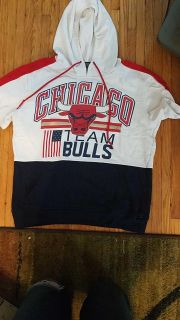 Chicago Bulls short-sleeved, hooded with front