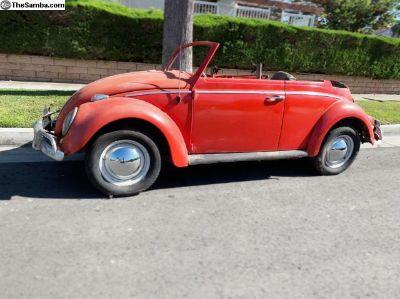 1962 Volkswagen Convertible Bug California Barn