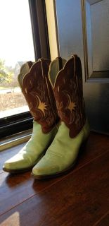 Teal and Brown Ariat Boots (Size 10)