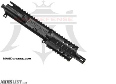 "For Sale: MAS DEFENSE 4.75"" 9MM BARRELED UPPER - GTD 4.2"" SERIES, AR 15, AR15, AR-15, 9MM, AR9"