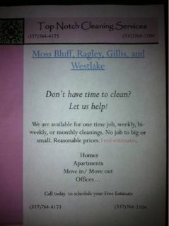 House cleaning  (Mossbluff  surrounding areas)