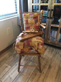 Antique baby doll bed and high chair