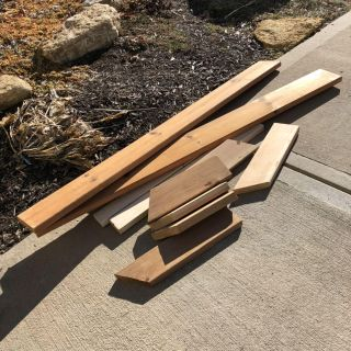 Lot of heavy solid hardwoods- selling together only must pick up, preferably today