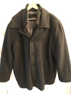 Wool Winter Coat Gray w/ Zippered liner XXL