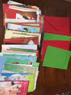 60+ Christmas Cards and Envelopes