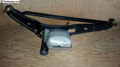 Wiper motor & linkage assembly good 6 Volt