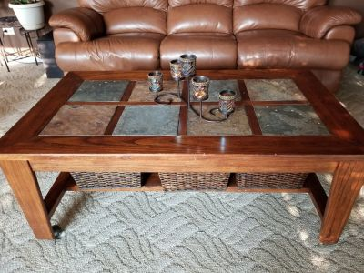 Coffee table and matching end table