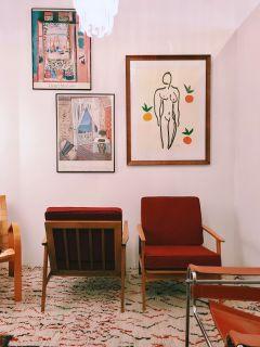Pair of vintage mid century armchairs