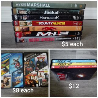 Misc Movies. DVD.
