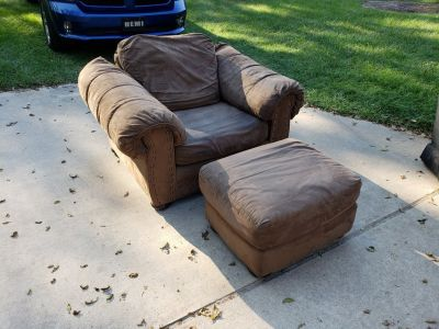 Over Sized Chair With Ottoman!