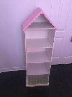 Bookcase and Dollhouse shape of a house