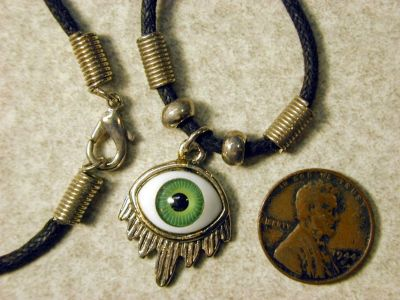 Weeping Eyeball Charm Pendant Necklace Choker