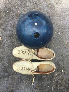 Bowling ball and champion shoes 60