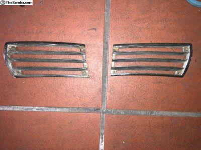 Porsche 911 912 Early 4 screw Horn Grills HEAVY !