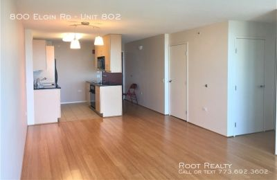 Downtown Evanston – 8th Floor 2-Bedroom/2-Bath Condo – Long-Term Lease Only - Utilities Included!