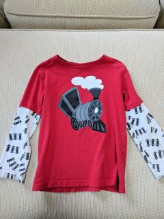 Red train shirt (free with another purchase) size 4t