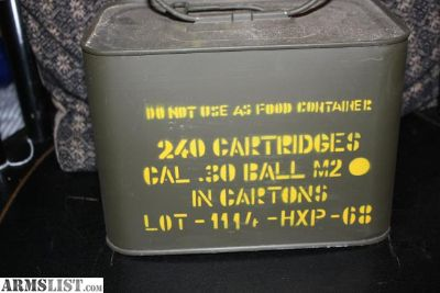 For Sale: M1 Granad 480 rounds 30cal M2 30-06