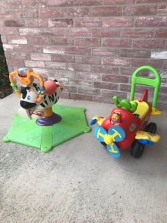 Bouncy horse and push toy