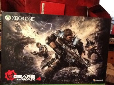 XBOX ONE Special Edition Gears of War 4 RED Edition, used once. 2 controllers.