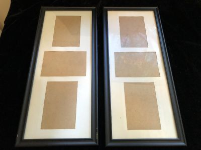 Lot of 2 multi picture frames