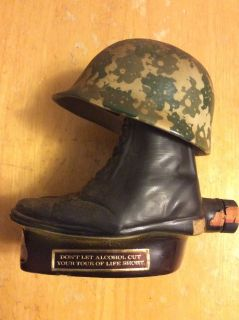 Decanter: Jim Beam-Helmet On Boots