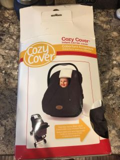 Infant car seat cozy cover