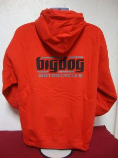 Buy BIG DOG MOTORCYCLES X-LARGE RED SWEATSHIRT SIGNATURE LOGO FRONT/BACK DESIGN motorcycle in Lyons, Kansas, United States, for US $29.99