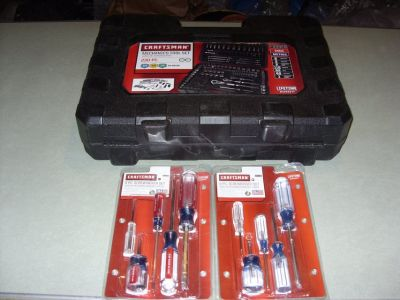 230 PCTOOL SET & TWO - 5 PC. SCREWDRIVER SETS PHILLPS & STAIGHT.