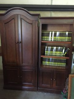 TV Bookcase and Bookcase (2 pieces)