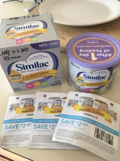 3 coupons and 2 cans of Total comfort formula. Brand new! Never been opened.