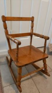 Vintage Thayer Tops for Tots Kids Rocking Chair