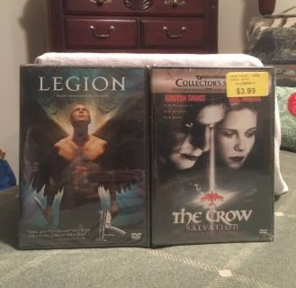"""REDUCED - EUC of """"Legion"""" and """"The Crow Salvation: Collectors Series"""" DVD's ($5.00)"""