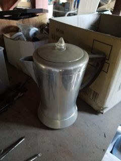 Vintage stainless steel coffee pot