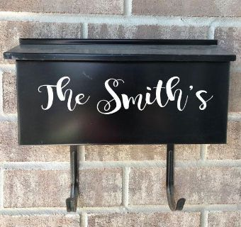 Personalized vinyl mailbox decals can make for rectangular or square mailboxes
