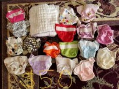 Newborn cloth diaper lot