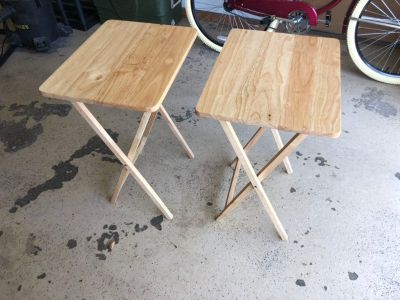 Two TV Tray Tables
