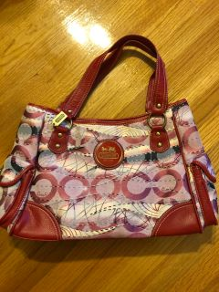 Coach bag with dustbag included